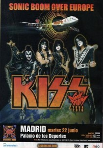 KISS Sonic Boom Over Europe Madrid Reklam