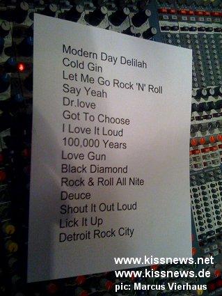 Kiss setlist