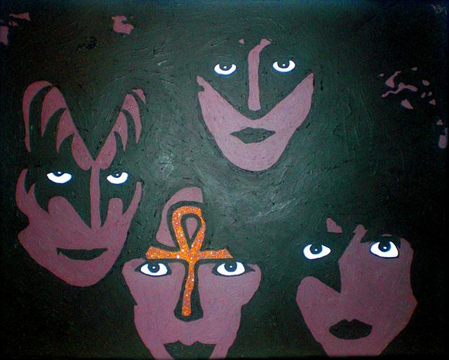Konst med Kiss-motiv