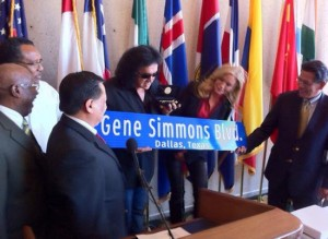 Gene Simmons key to the city