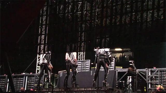 Backstage med Kiss