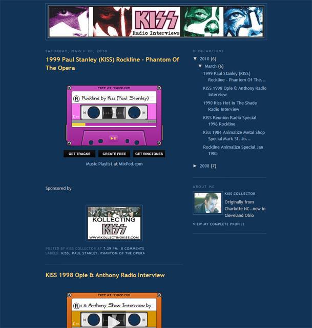 Webbtips – Kiss radio interviews