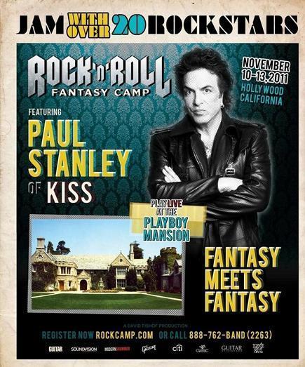 Paul Stanley på Rock And Roll Fantasy Camp