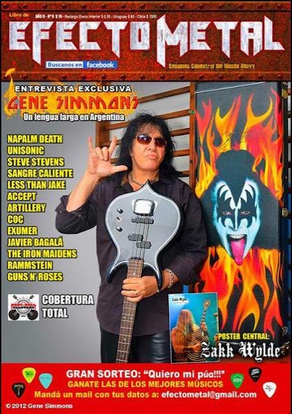 Gene Simmons på omslaget..