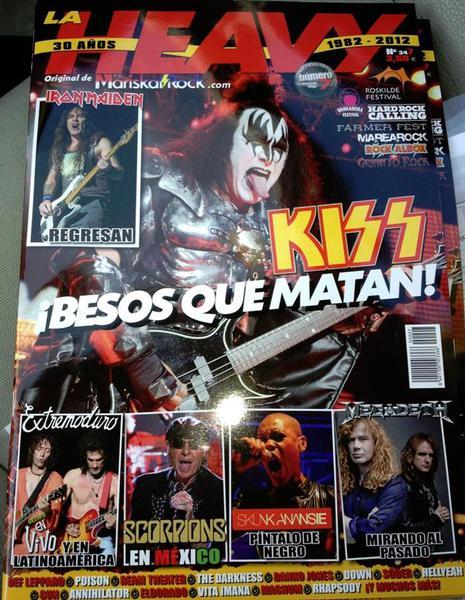 Fler tidningar med KISS på omslaget…
