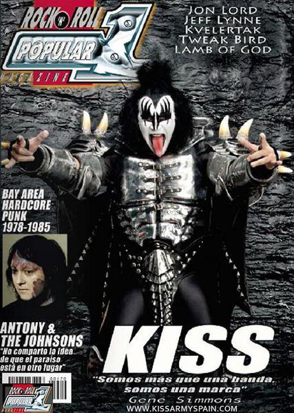 KISS på omslaget…