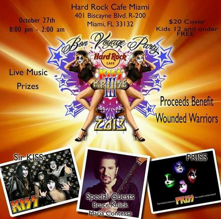 Pre-party i Miami med Bruce Kulick….