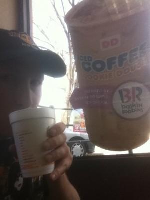 Dunkin Donuts, men nu visste jag iaf var jag skulle....