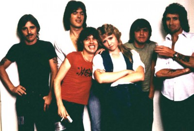 The journalist and author Susan Masino with AC / DC