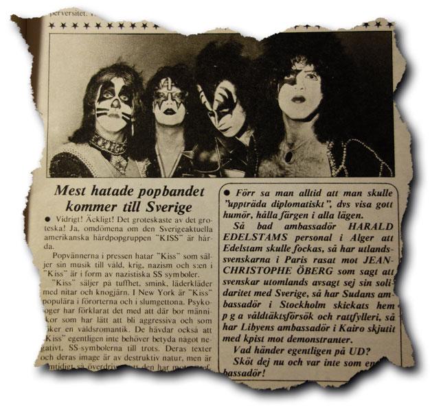 Kiss i Sverige 1976 – en tillbakablick