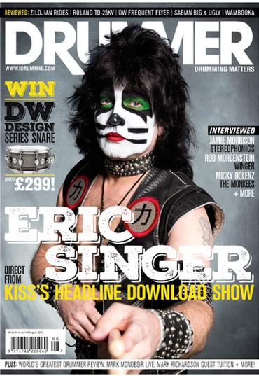 Eric Singer på omslaget…