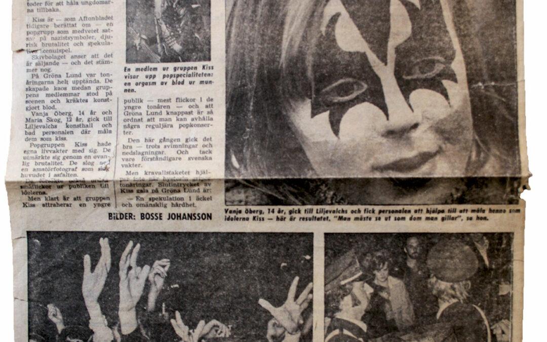 Kiss på Gröna Lund – Rekordpublik nära tumult