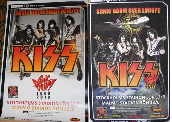 Affischer till KISS Sverige spelningar