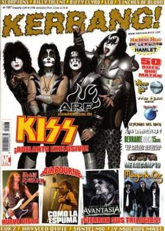 KISS på Kerrangs framsida