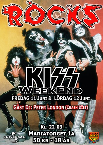 Rocks Kiss Weekend 11-12 juni