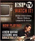 ESP presenterar 4 nya gitarrlektioner med Bruce Kulick