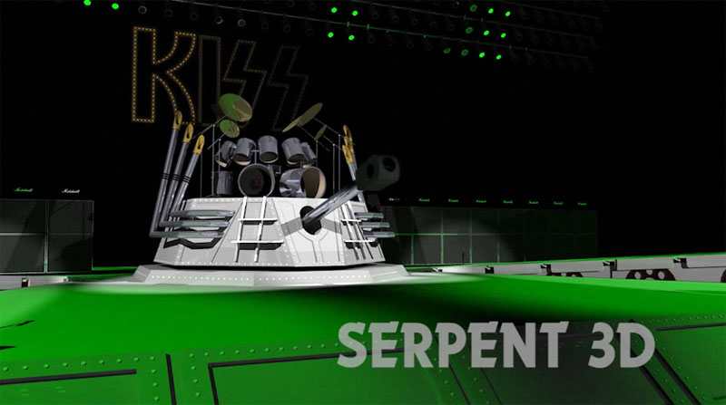 Kiss stage sets 2