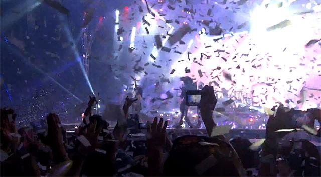 Sista spelningen på Monster Tour i USA