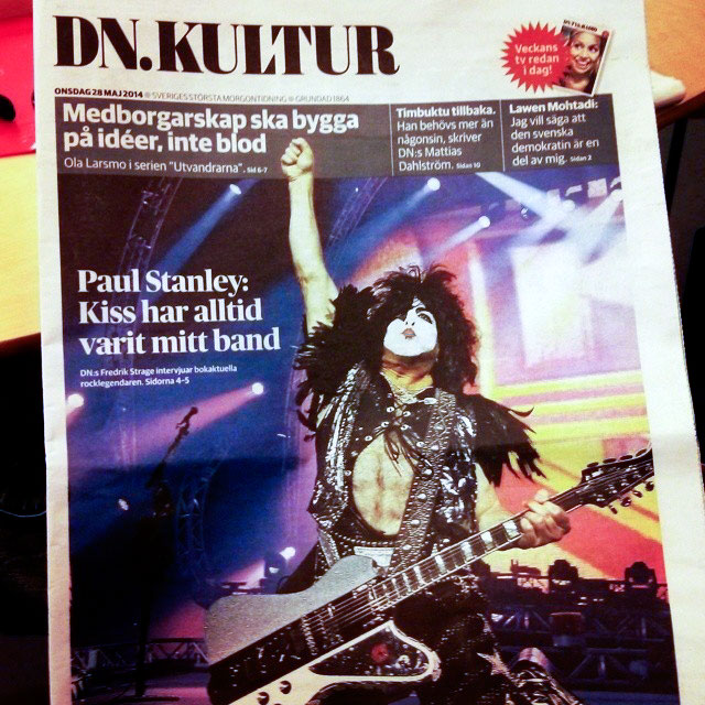 DN.Kultur intervjuar Paul Stanley