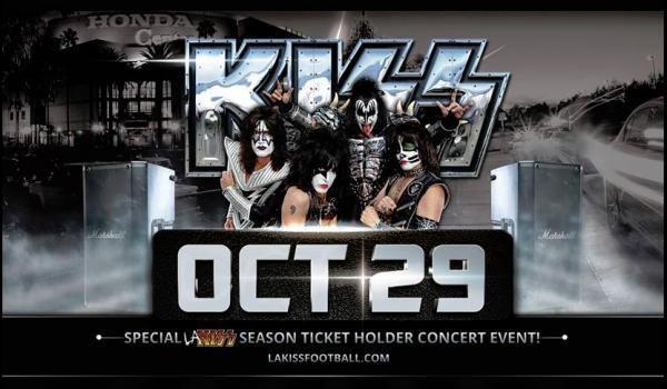 KISS spelar i LA den 29:e oktober…