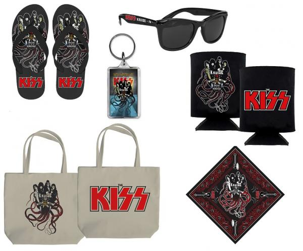 Merchandise för KISS Kruise….