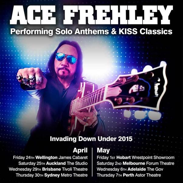 Ace Frehley till Nya Zealand och Australien….