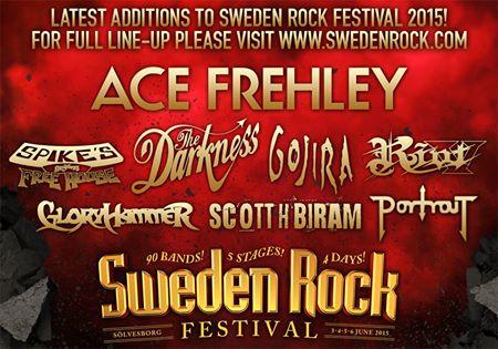 Ace Frehley till Sweden Rock Festival….